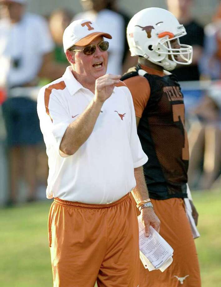 UT offensive coordinator Greg Davis  resigned Monday. Photo provided by the University of Texas Photo: Jim Sigmon / UNIVERSITY OF TEXAS