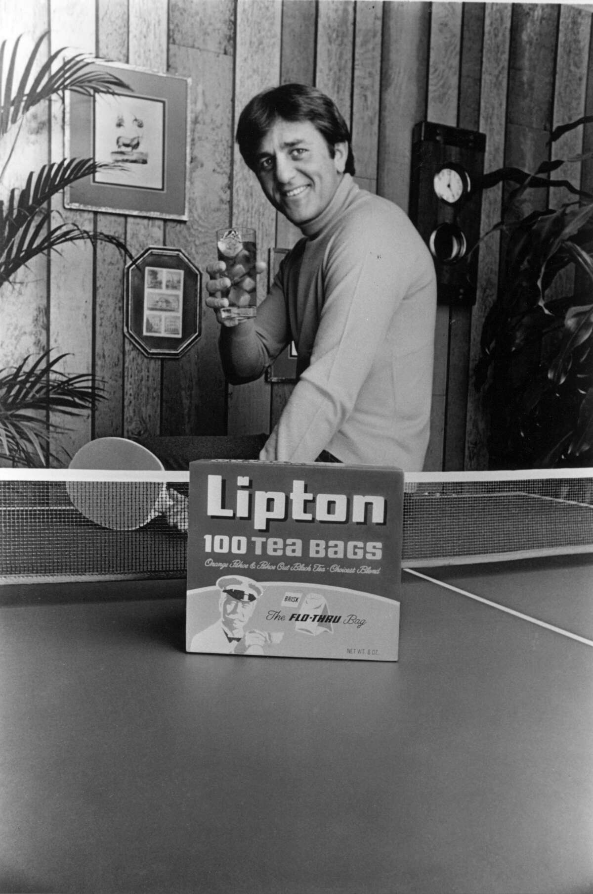 Don Meredith pitches for Lipton tea in an undated photo. Meredith also appeared in more than a dozen made-for-TV movies, specials or dramas. He once filled in for Johnny Carson on the