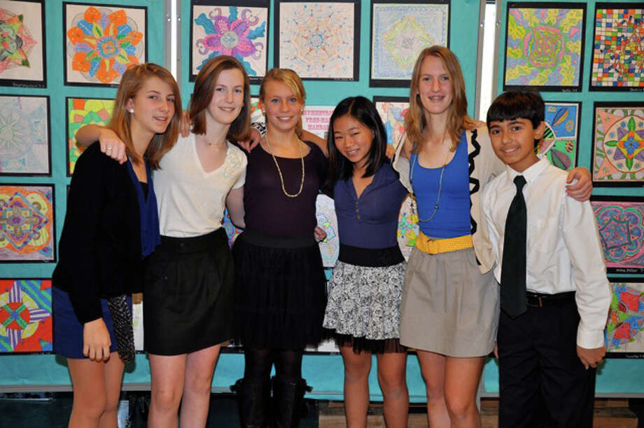 "Members of the Coleytown Middle School Photo Club had work selected for the new ""Kid Kulture"" exhibit at the Westport Arts Center. Those students are, from left, Elisabeth French, Mary Bennewitz, Malin Houstadius, Julia Pascal, Elizabeth Bennewitz and Evan Klasky. Photo: Contributed Photo / Westport News"