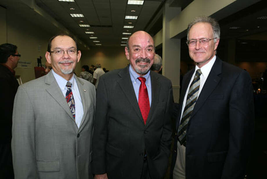 Henry Flores, St. Mary's Univeristy Dean of Graduate School, Carlos Guerra, Honoree and Bill Israel, St. Mary's University Journalism Instructor, were at the Carlos Guerra Scholarship event on September 24, 2010 at the El Tropicana Hotel. Photo special to the Express-News