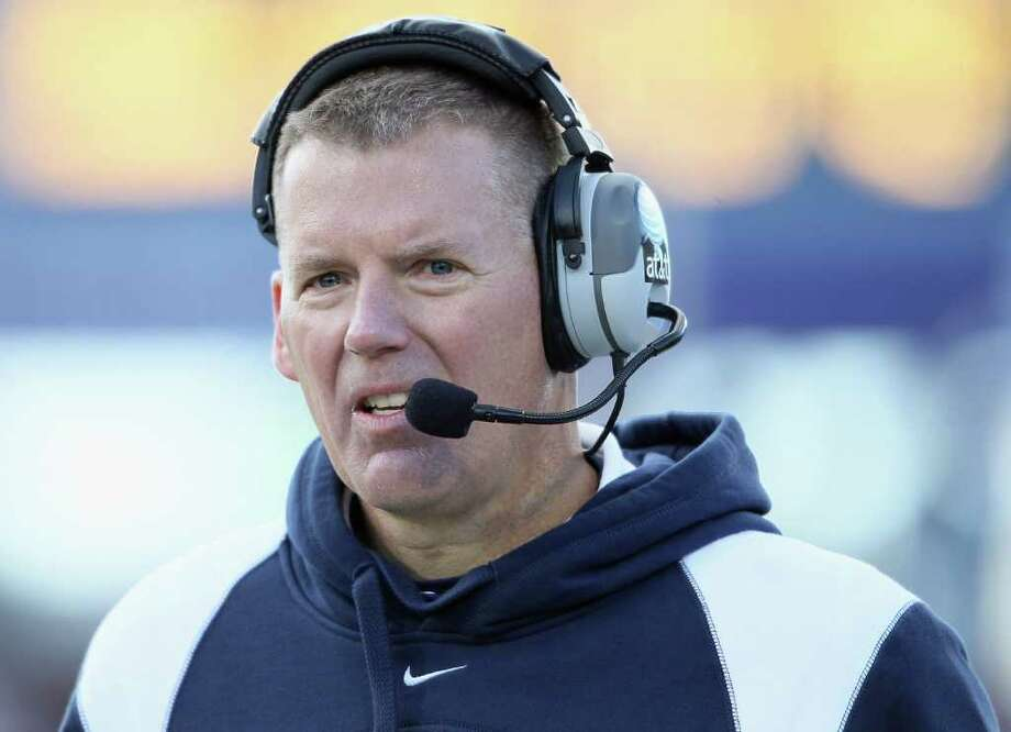 EAST HARTFORD, CT - NOVEMBER 27:  Head coach Randy Edsall of the Connecticut Huskies directs his players in the fourth quarter against the Cincinnati Bearcats on November 27, 2010 at Rentschler Field in East Hartford, Connecticut. The Huskies defeated the Bearcats 38-17.  (Photo by Elsa/Getty Images) *** Local Caption *** Randy Edsall Photo: Elsa, ST / 2010 Getty Images