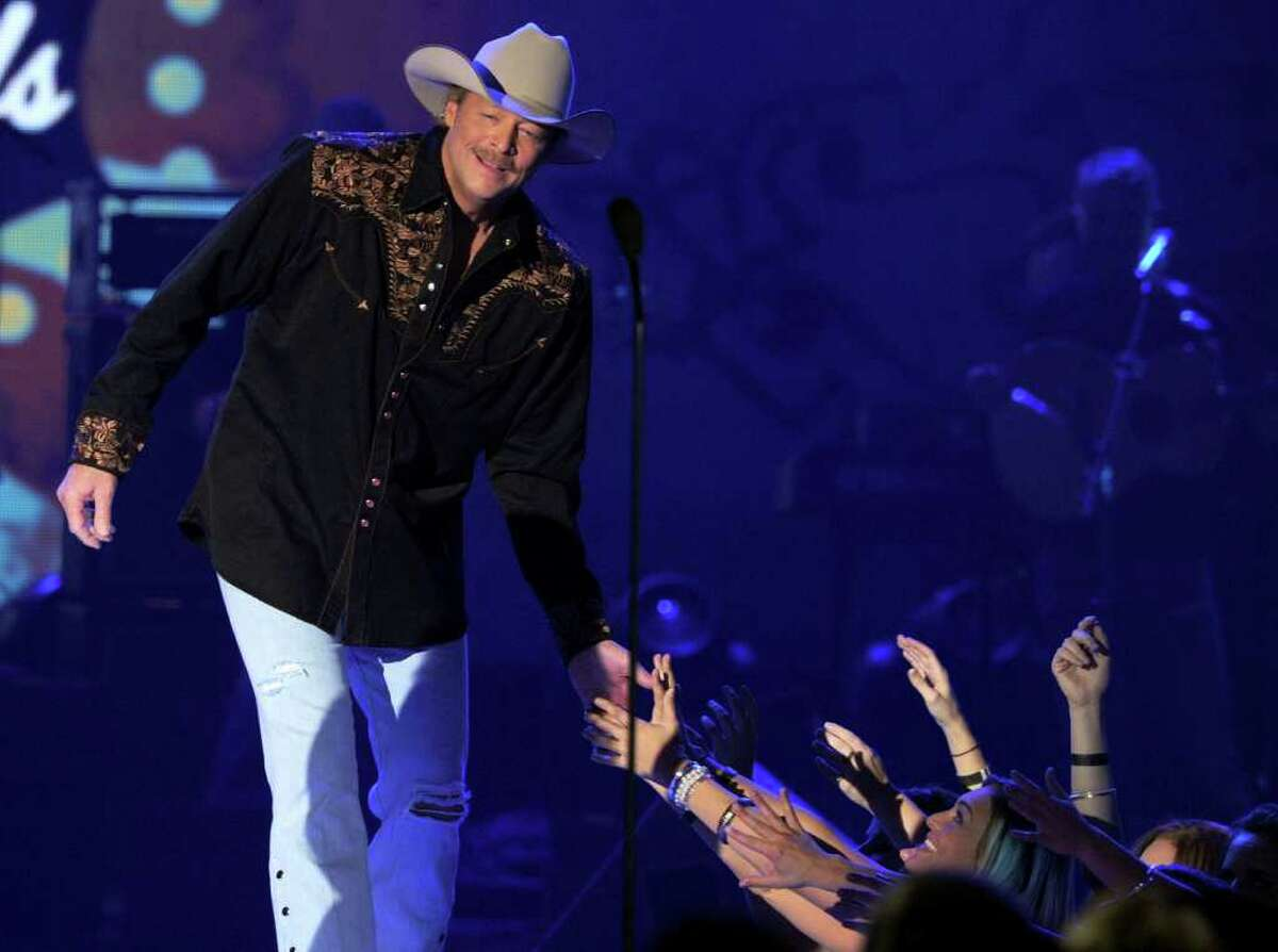 LAS VEGAS, NV - DECEMBER 06: Musician Alan Jackson accepts the Greatest Hits Award onstage during the American Country Awards 2010 held at the MGM Grand Garden Arena on December 6, 2010 in Las Vegas, Nevada. (Photo by Kevin Winter/Getty Images)