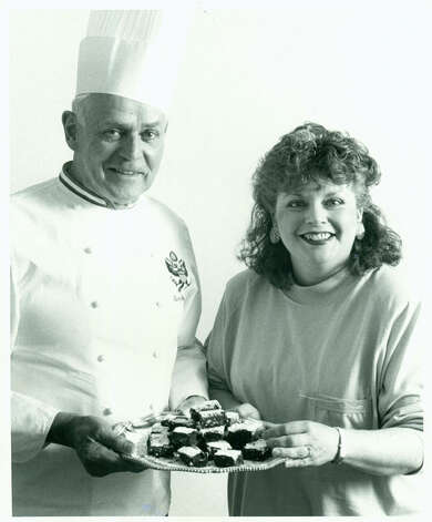 White House executive chef Henry Haller (chef to presidents Johnson to Reagan) met up with Haram in March 1988 at the International Food Media Conference in Kansas City. COURTESY PHOTO