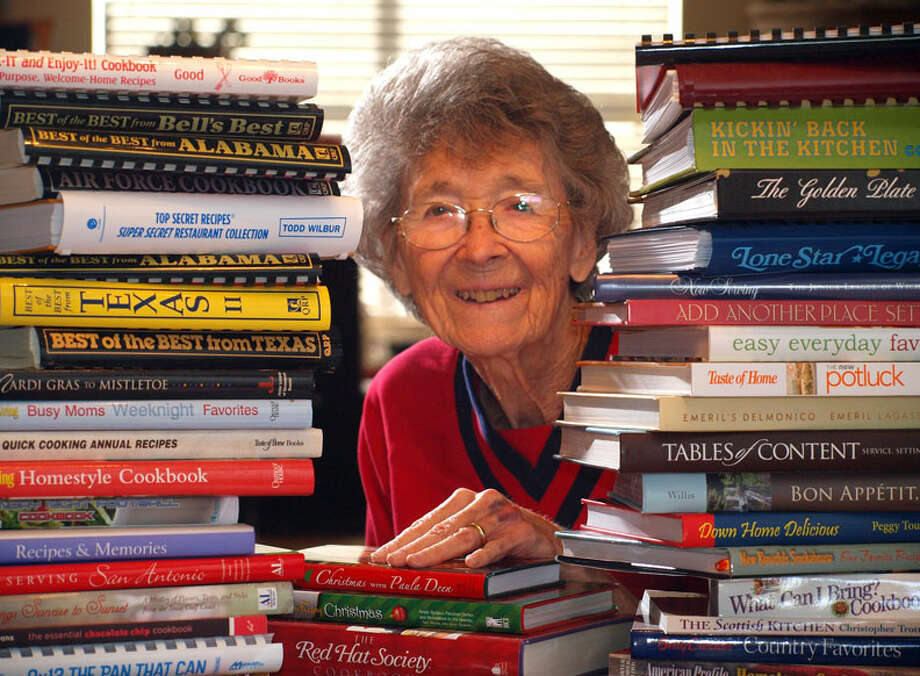A story of Lemma Nite's collection of more than 13,000 cookbooks was served up to readers in 2008. EXPRESS-NEWS FILE PHOTO