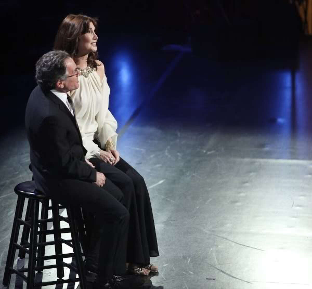 """Fairfield performer Joanna Gleason won a Tony for her performance in the Stephen Sondheim musical """"Into the Woods."""" On the recent PBS Sondheim birthday celebration special, Gleason reunited with co-star Chip Zien for one of their numbers in the show,"""