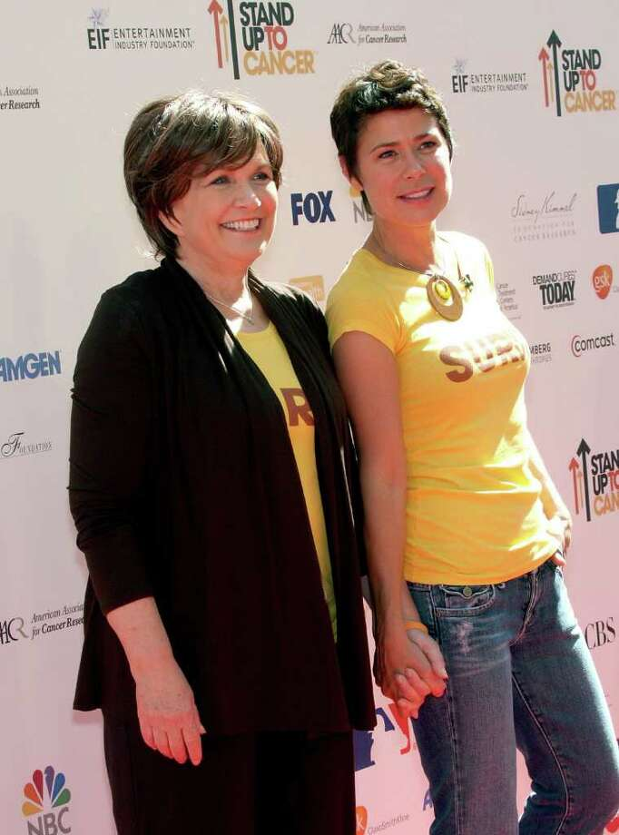 CULVER CITY, CA - SEPTEMBER 10:  Elizabeth Edwards (L) and actress Maura Tierney arrive at Stand Up To Cancer held at Sony Pictures Studios on September 10, 2010 in Culver City, California.  (Photo by Frederick M. Brown/Getty Images) *** Local Caption *** Elizabeth Edwards;Maura Tierney Photo: Frederick M. Brown, Getty Images / 2010 Getty Images