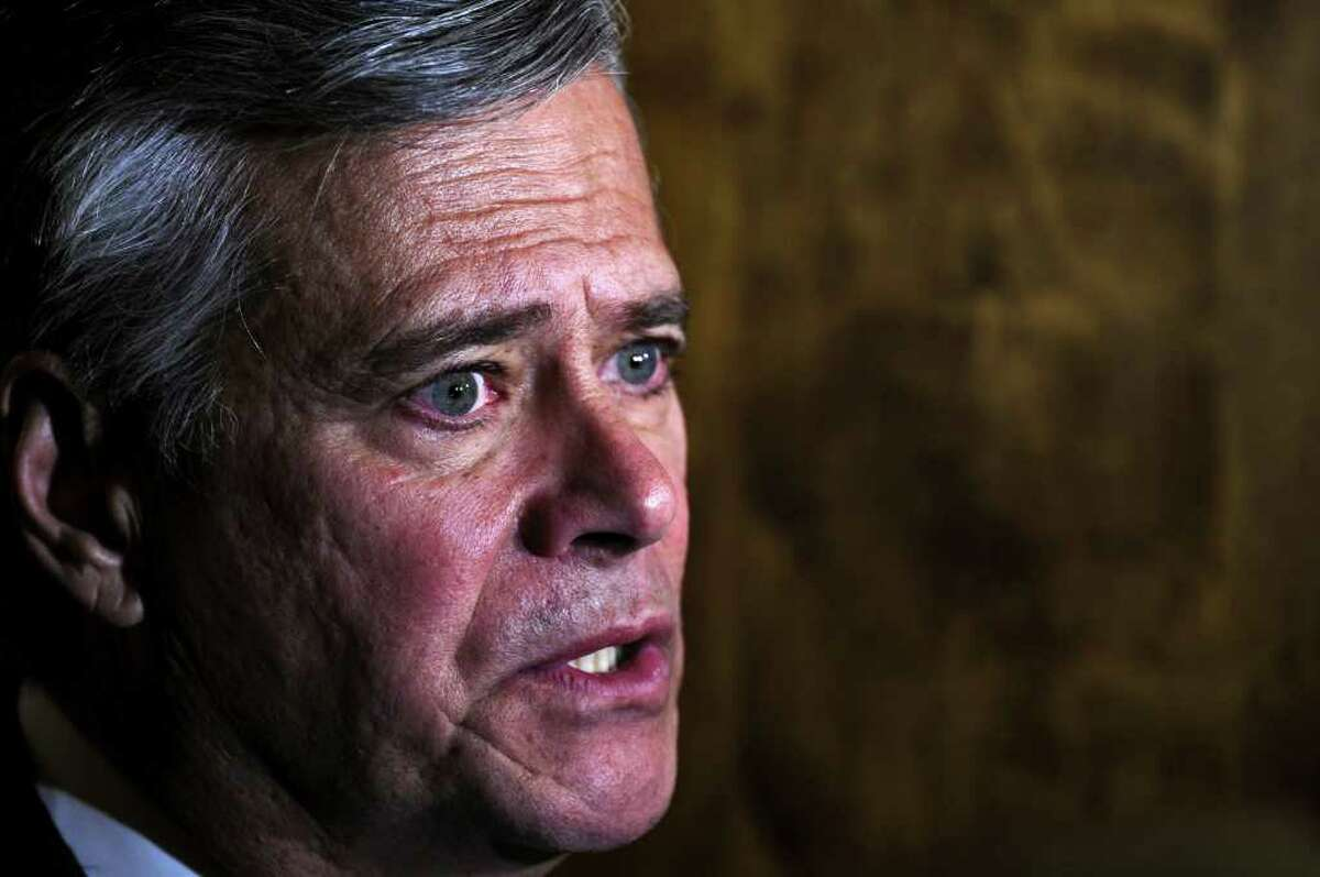Senate Leader Dean Skelos says Republicans were left out of the NYC OTB rescue plans. ( Philip Kamrass / Times Union )