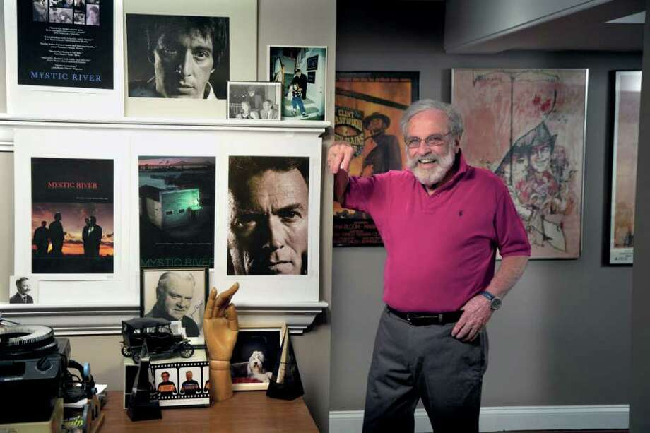 Old Greenwicgh resident Bill Gold has been designing movie posters for more than 60 years — more than 2,000 in total, including many of the greatest films of all time. He has also worked with many legendary directors, including Hitchcock, Kubrick and his good friend Clint Eastwood. Photo: Contributed Photo / Greenwich Citizen