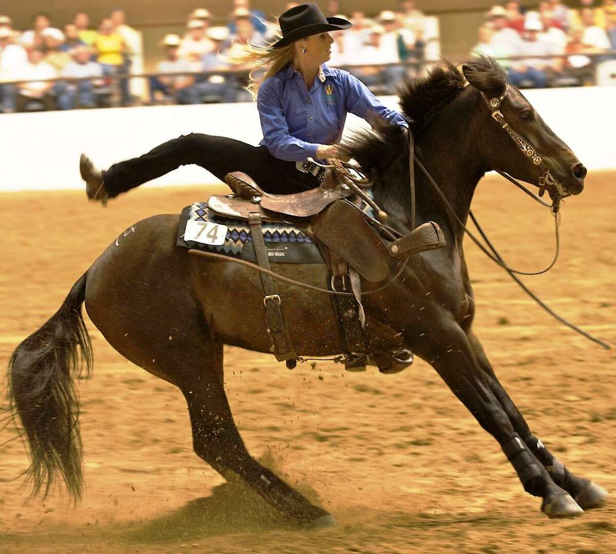 """Cowgirl Wylene Wilson in a scene from the documentary """"Wild Horse, Wild Ride"""""""