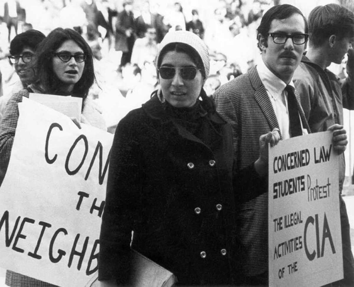Silvia protests at the University of Wisconsin, 1965 (Photo from the Wisconsin State Archive)