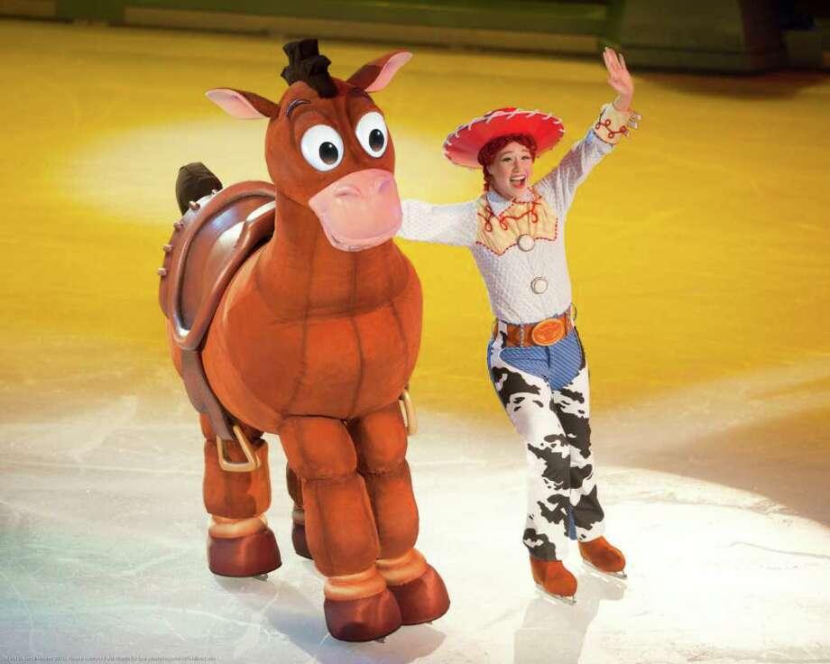 "Jessie and Bullseye in ""Toy Story 3 On Ice."" (Feld Entertainment) Photo: Heinz Kluetmeier / ©Feld Entertainment 2010. Please contact Feld Photo for use photorequests@feldinc.com"