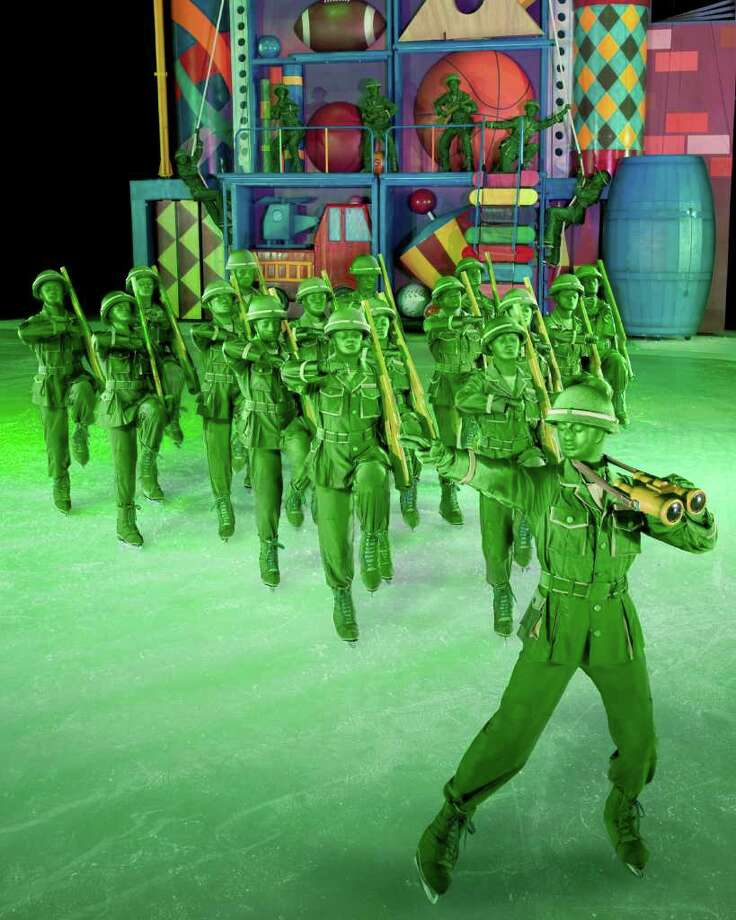 "Sarge and Army Men in ""Toy Story 3 On Ice."" (Feld Entertainment) Photo: Heinz Kluetmeier / ©Feld Entertainment 2010. Please contact Feld Photo for use photorequests@feldinc.com"