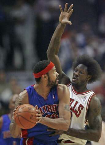 NBA player  Ben Wallace used to have an Afro, one of the hair styles Silsbee basketball players are not allowed to wear. (AP Photo/Nam Y. Huh) Photo: Nam Y. Huh, STF / Beaumont