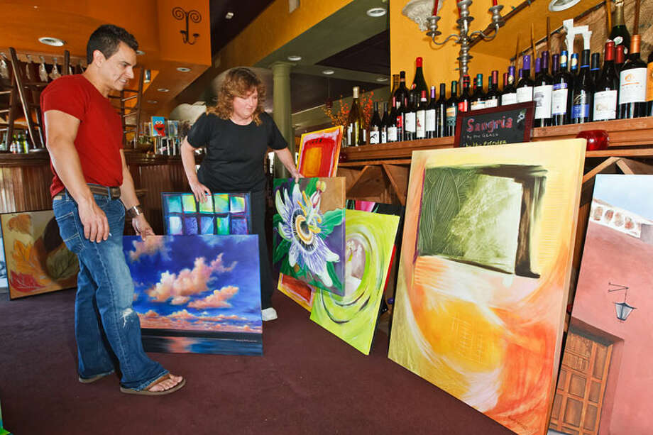 Artist lets her imagination run wild on restaurant walls - San ...