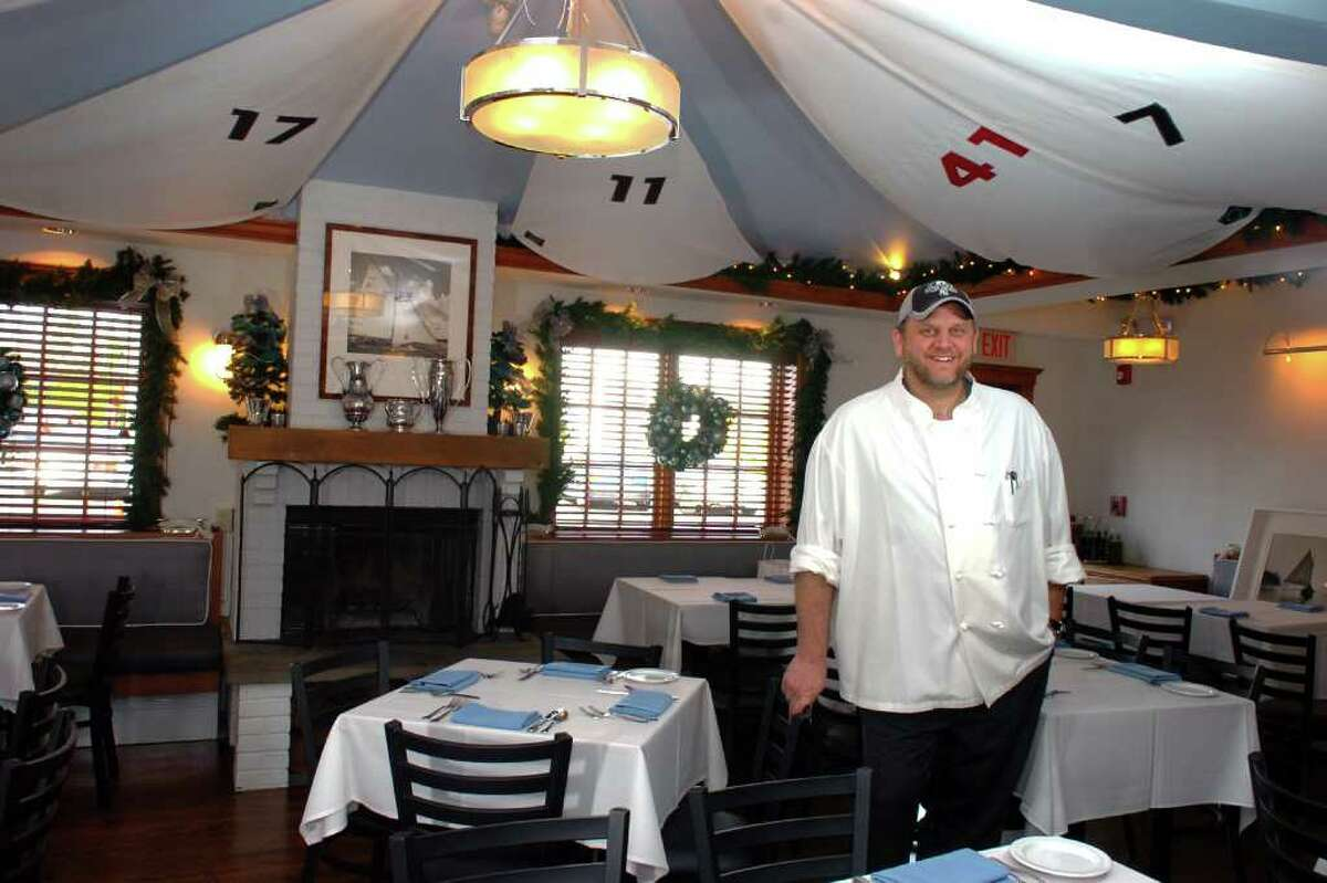 Chef Nathan Kramer poses in the dinning room at Sails American Grill in the Rowayton section of Norwalk, Conn. Dec. 3rd, 2010.