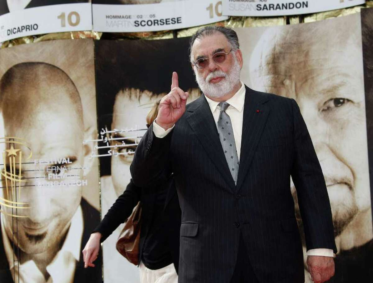 US Director Francis Ford Coppola gestures during a photo call at the 10th Marrakech International Film Festival in Marrakech Morocco Tuesday, Dec. 7, 2010 . The Festival runs through Dec. 3-11. (AP Photo/Abdeljalil Bounhar)