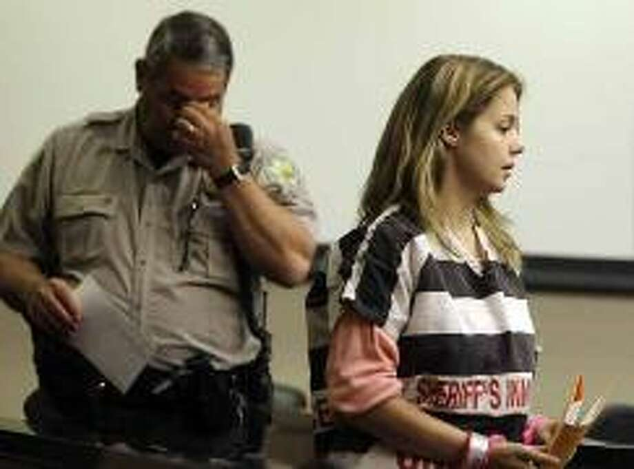 Elizabeth Johnson, mother of missing baby Gabriel, appears for a hearing in Maricopa County Superior Court March 17, 2010, in Phoenix.