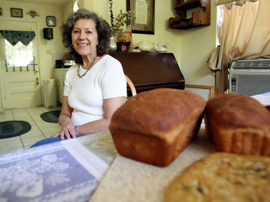 Jacqueline Jordan, who began making bread in the 1970'sm started dabbling in it again after retirement because she loved the smell of it rising and baking.