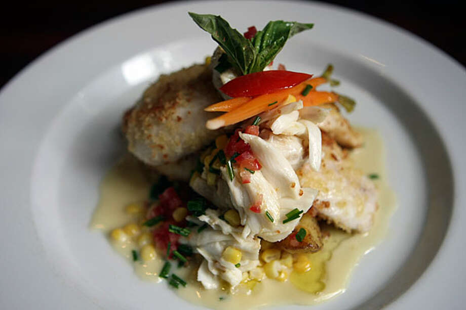 One of the daily specials at The Grill at Leon Springs is a panko-crusted talapia with crab meat topping.