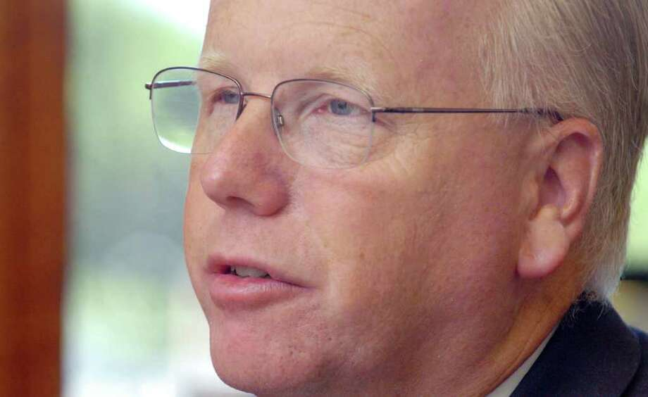Mayor Mark Boughton speaks about his philosophy about illegal immigration at his office September 14, 2010. Photo: Chris Ware / The News-Times