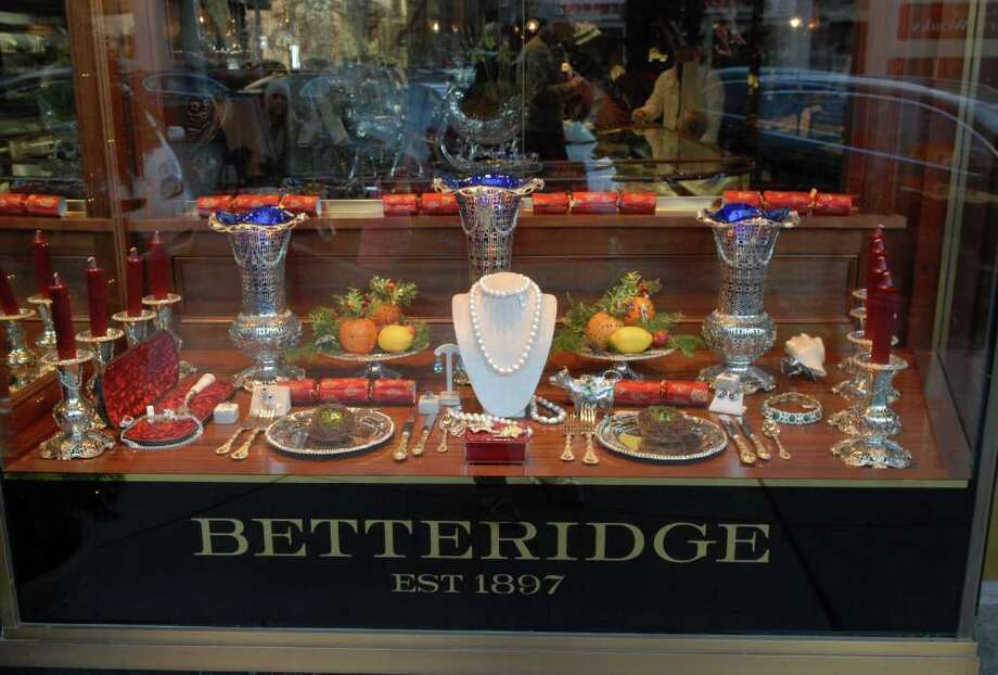 Holiday window at Betteridge Jewelers, 117 Greenwich Ave., Thursday, Dec. 9, 2010. Photo: Bob Luckey / Greenwich Time