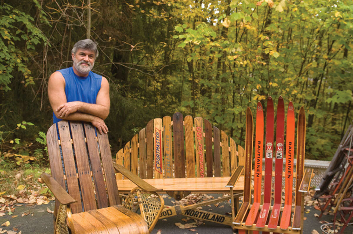Artisan Richard Feathers uses unusual building materials such as old snowshoes and skis to create his unique handmade furniture. (Kayla Herlihy/Life@Home)