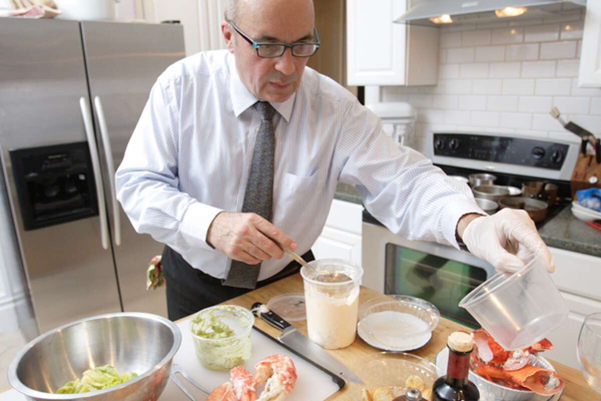Chef Luc Pasquier, at home in the kitchen. (Suzanne Kawola/Life@Home)