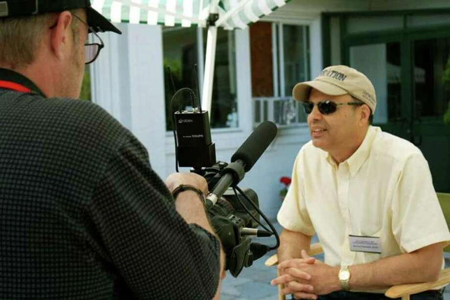 Jon Landers, right, with videographer, Douglas Branson from Exit4Video in Kent, Ct. Photo: Contributed Photo / The News-Times Contributed