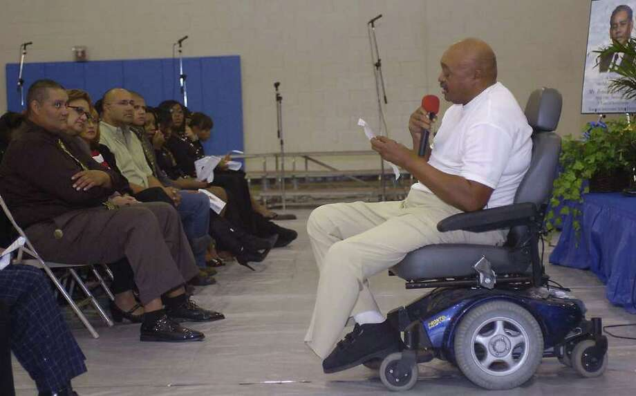 Lafayette Spivey at the Howard Trahan Jr. memorial tribute ceremony in 2010. Dave Ryan/The Enterprise Photo: Dave Ryan / Beaumont