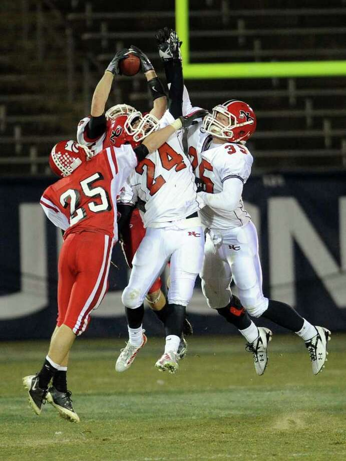 Saturday's Class L football championship game between New Canaan High School and Masuk High School at Rentschler Field in East Hartford on December 11, 2010. Photo: Lindsay Niegelberg / Connecticut Post