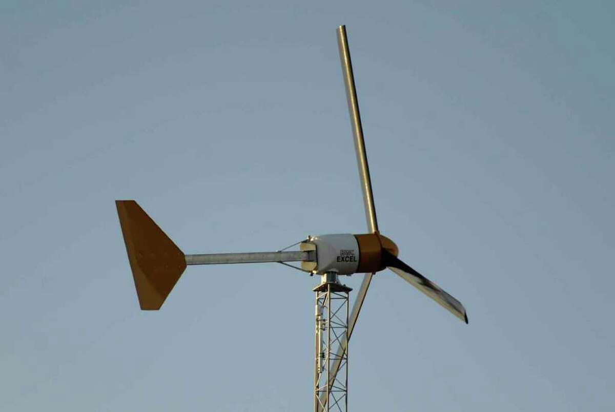 Wind generator on the property of Don Carola in Mechanicville December 8, 2010. (SKIP DICKSTEIN / TIMES UNION)