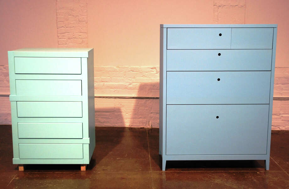 """Seattle artist Roy McMakin commissioned local craftsmen to build """"carefully constructed"""" chests of drawers for his artist-in-residency installation at Artpace. PHOTOS COURTESY OF ARTPACE"""
