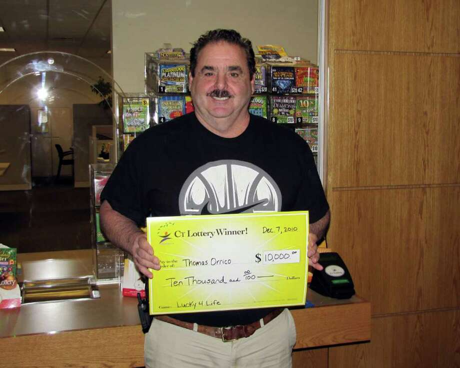 """Tom Orrico of Cos Cob won a $10,000 second prize in the CT Lottery's Dec. 6 """"Lucky-4-Life"""" Quick Pick drawing. Photo: Contributed Photo / Greenwich Time Contributed"""