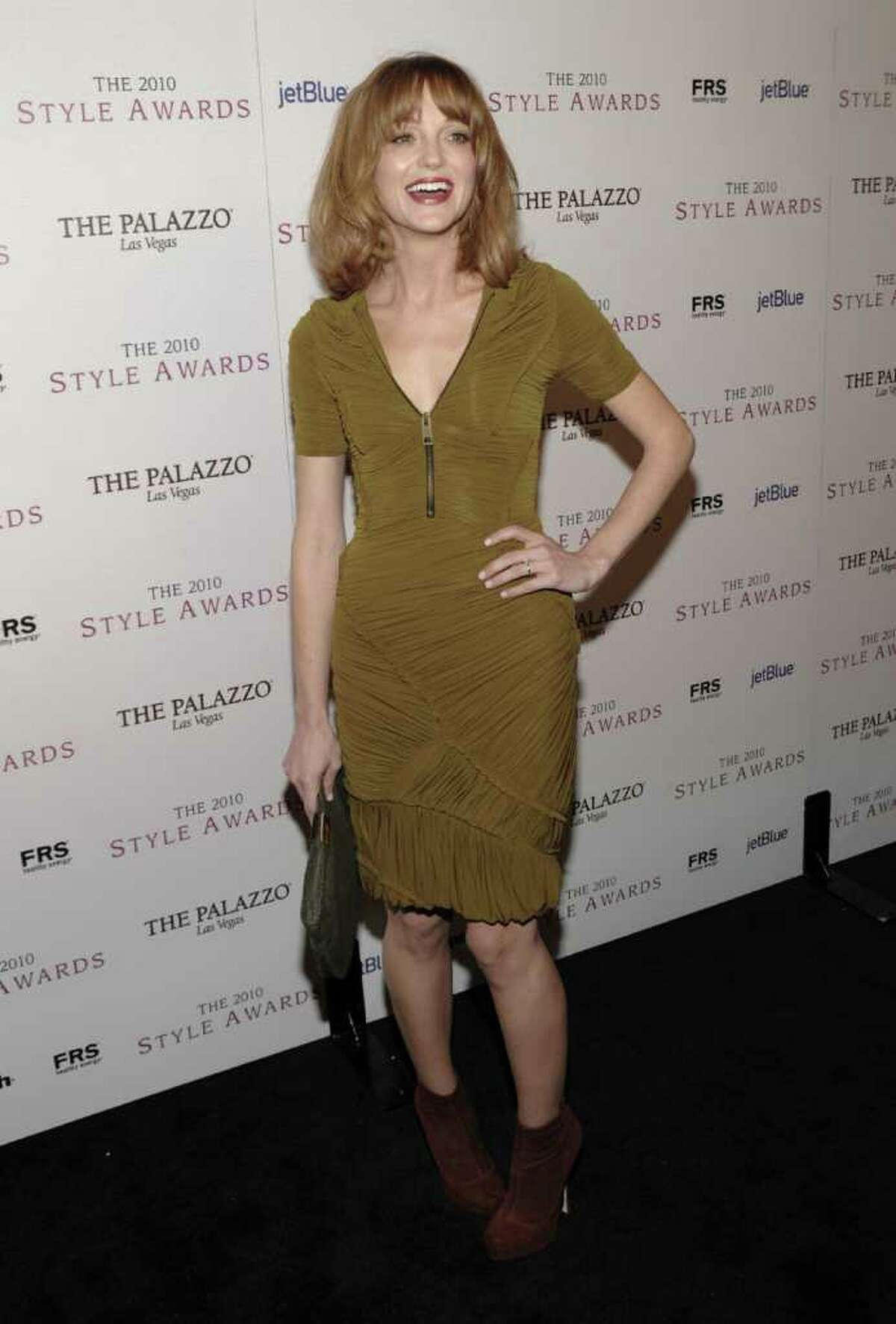 Actress Jayma Mays arrives at the 2010 Hollywood Style Awards in Los Angeles on Sunday, Dec. 12, 2010. (AP Photo/Dan Steinberg)