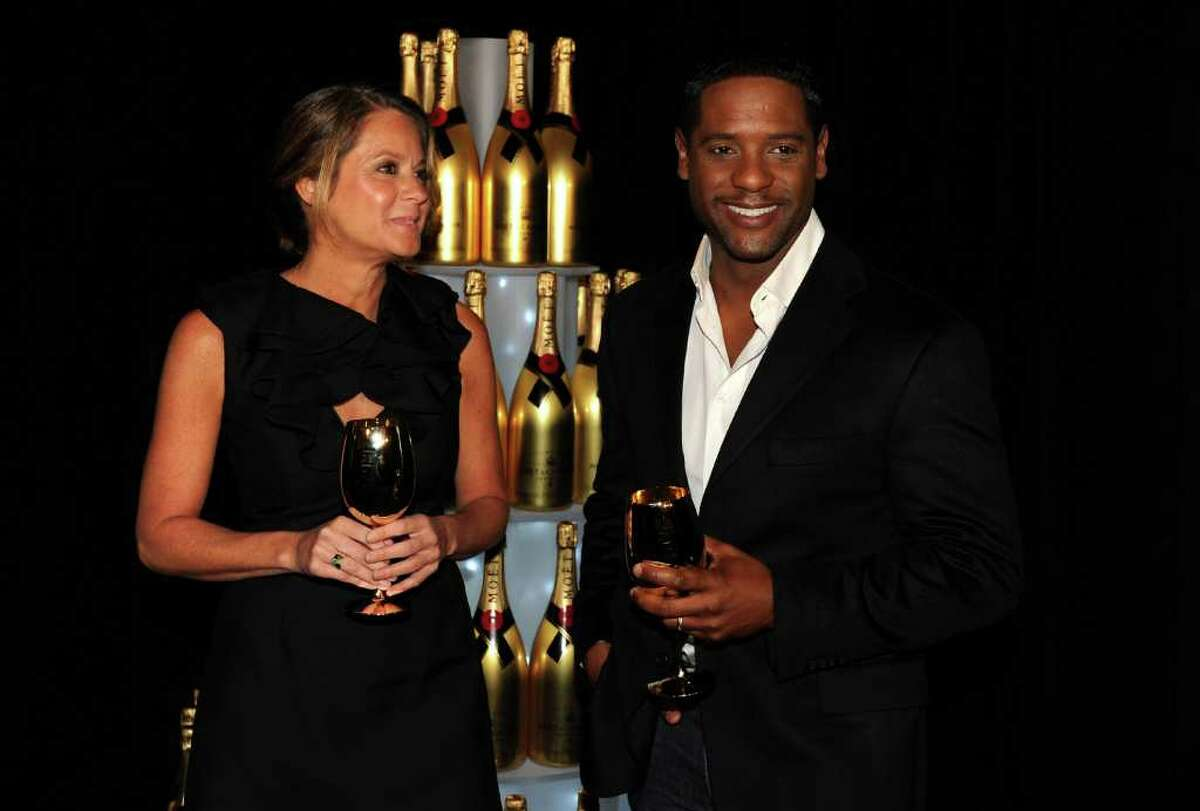 BEVERLY HILLS, CA - DECEMBER 14: Moet's Ann DiGiovanna and actor Blair Underwood during the 68th Annual Golden Globe Awards nomination announcement held at the Beverly Hilton Hotel on December 14, 2010 in Beverly Hills, California. (Photo by Kevin Winter/Getty Images) *** Local Caption *** Ann DiGiovanna;Blair Underwood
