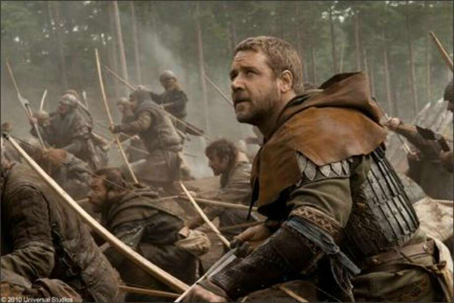 "Russell Crowe brings the natural aura of a leader to his more serious portrayal of the legendary outlaw in ""Robin Hood."""