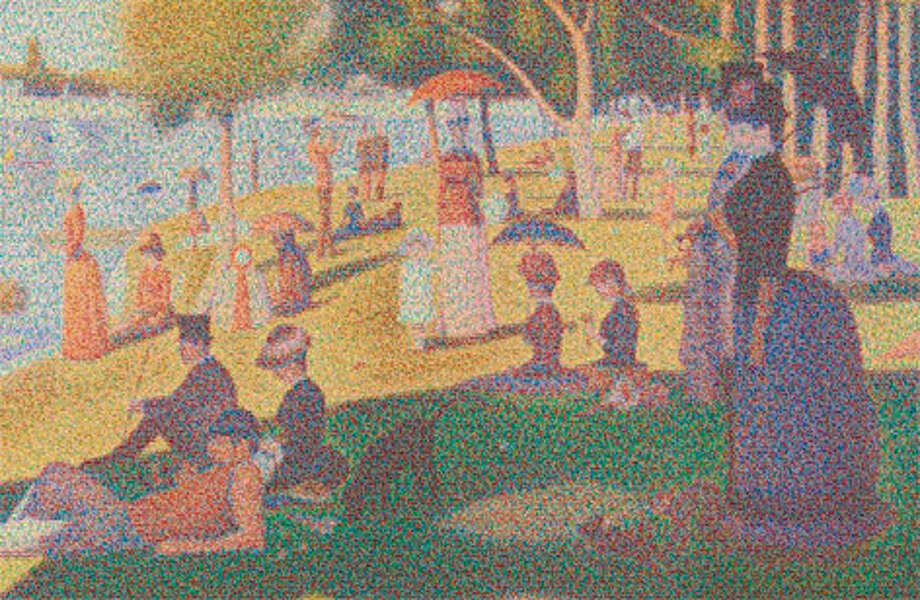 "Looks like Georges Seurat's pointilism masterpiece ""A Sunday Afternoon on the Island of La Grande Jatte,"" right? Well ..."