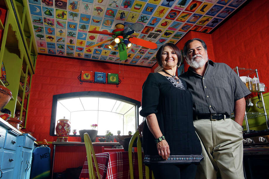 Laura and Ramon Lopez re-created Old Mexico in their farmhouse kitchen in New Braunfels. EDWARD A. ORNELAS / EXPRESS-NEWS