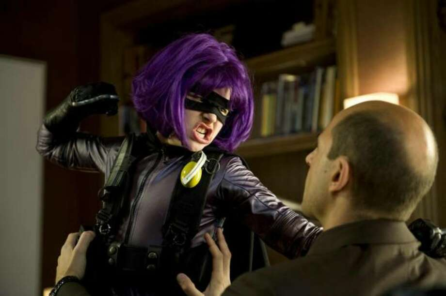 "Chloë Grace Moretz stars as ""Hit Girl"" in ""Kick-Ass."" Photo: / Lions Gate Films"