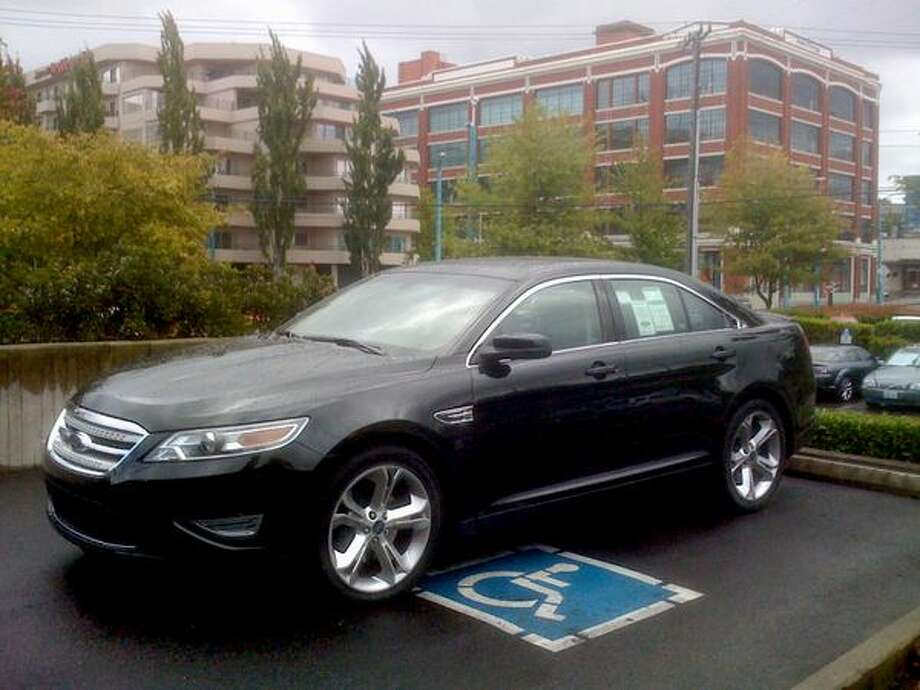 The new 2010 Ford Taurus parked at Daniel's Broiler in South Lake Union. (Scott Gutierrez/Seattlepi.com) Photo: /