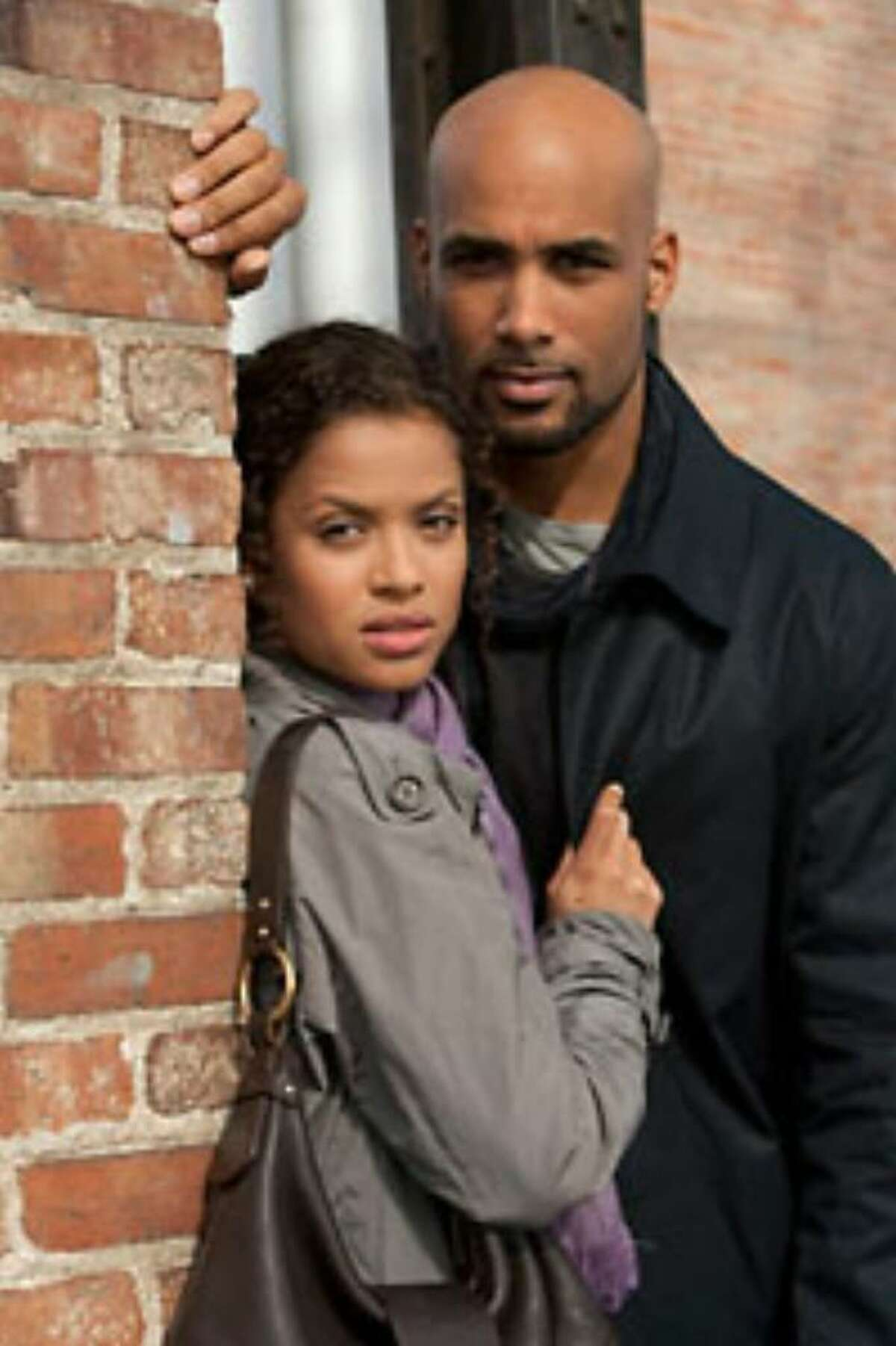 Gugu Mbatha-Raw, left, and Boris Kodjoe are husband-and-wife spies lured out of retirement on