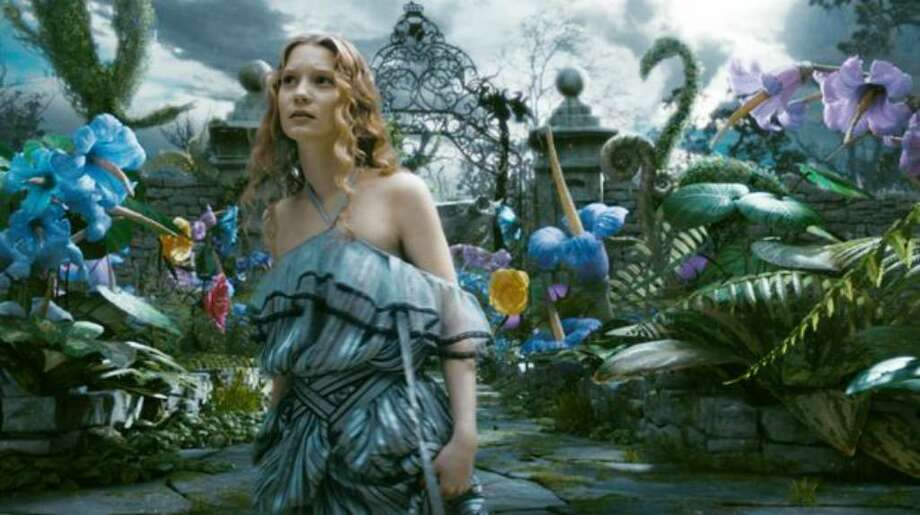 "Mia Wasikowska stars in director Tim Burton's ""Alice in Wonderland,"" due in theaters in March. Photo: / Disney Enterprises"