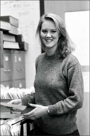 Heather Brooke in the offices of the University of Washington Daily during her student days. (Photo courtesy of Hideki Tomeoka) Photo: /