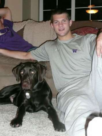 Jake Locker and his dog, Ten. Photo: / Family Photo