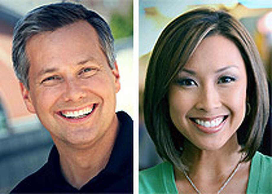 Q13 morning anchors Mark Wright and Lily Jang.