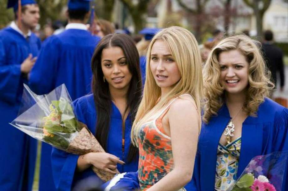 Having gotten through their high school graduation ceremony, Cammy (Lauren London), Beth Cooper (Hayden Panettiere) and Treece (Lauren Storm) anticipate a wild night of celebrating. Photo: / Twentieth Century Fox
