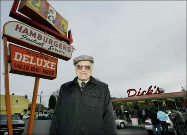 Dick's co-founder Dick Spady at the Wallingford location in 2003. Photo: Jim Bryant/seattlepi.com File