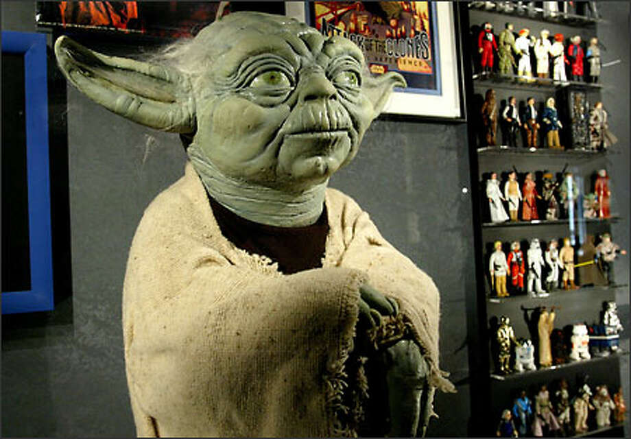 "A puppet of Jedi master Yoda from the ""Star Wars"" films is seen at the Science Fiction Museum in this 2004 file photo. Photo: Paul Joseph Brown/Seattle Post-Intelligencer"