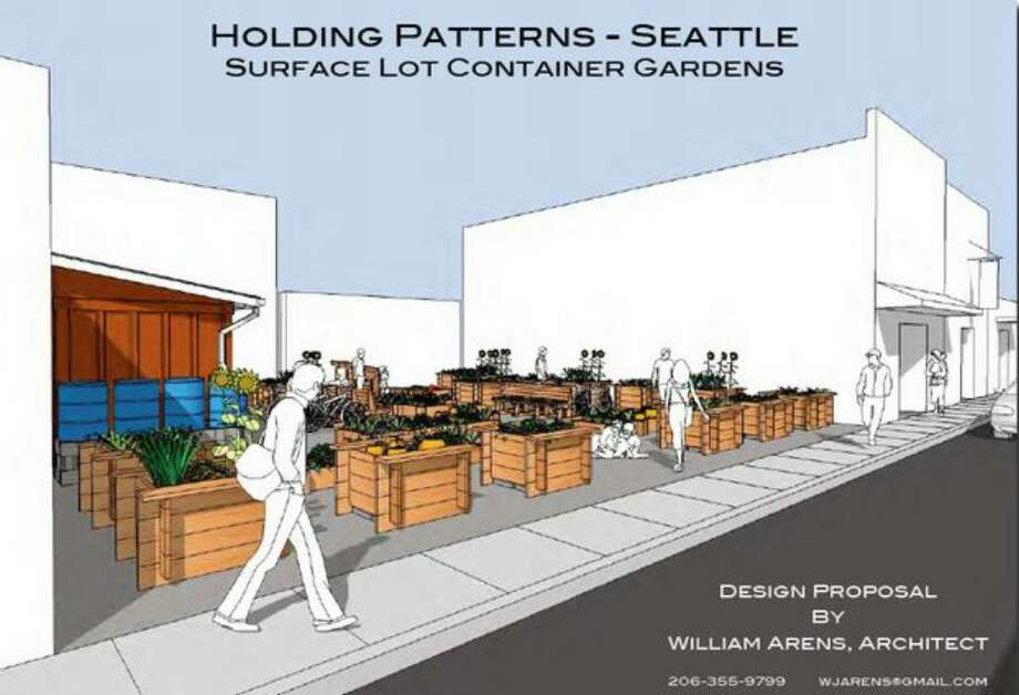 A proposal for converting vacant lots into container gardens by William Arens. (Illustration courtesy city of Seattle). Photo: /