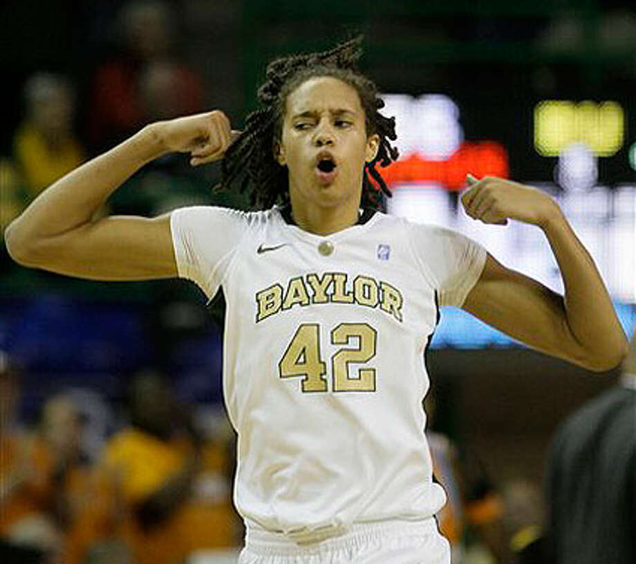 Baylor center Brittney Griner runs downcourt in Tuesday night's victory over Tennessee before a Ferrell Center-record crowd. Photo: ASSOCIATED PRESS